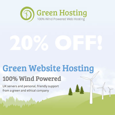 20% off Green Hosting Promotion Code