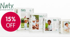 Naty Nappies 15% off