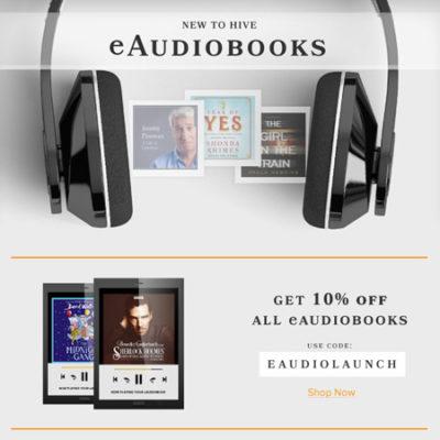 Hive Audiobooks Discount Code