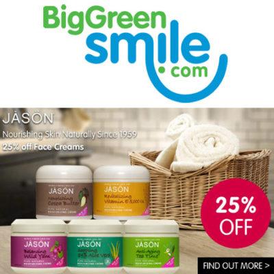 Jason Face Cream 25% off BigGreenSmile