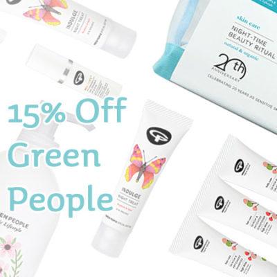 15% off Green People Organic