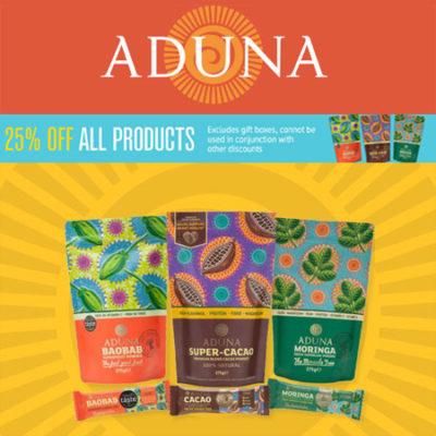25% off Aduna