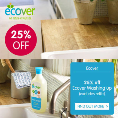 25% off Ecover Washing Up