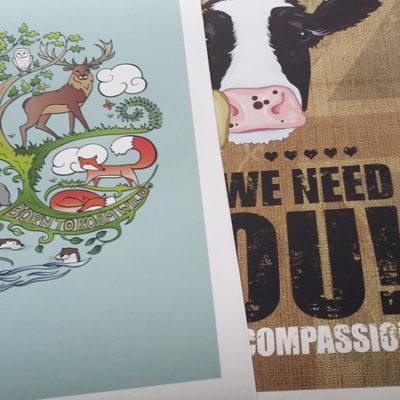 win an animal art print