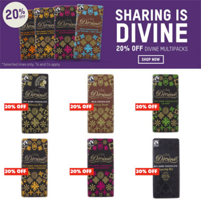 20% Off Divine Chocolate at Oxfam