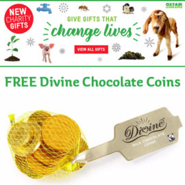 Oxfam Unwrapped - Free Divine Chocolate Coins