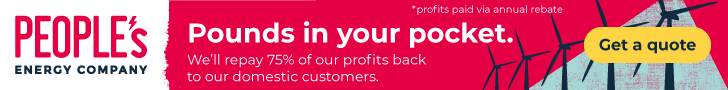 People\'s Energy. We\'ll repay 75% of our profits back to our members via an annual rebate.